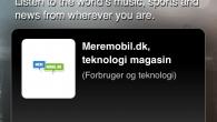 Smartphone-brugere der anvender TuneIn Radio, kan nu også lytte til Teknologimagasinet Meremobil.