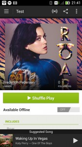Spotify, musik