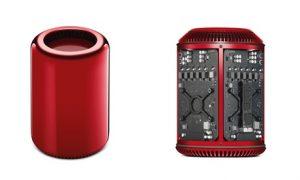 Apple Mac Pro rød