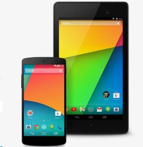Nexus 5 og Nexus 7