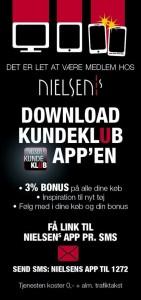Download Nielsens Kundeklub applikation og du behøver ikke huske det fysiske medlemskort længere