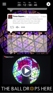 Times Square Ball - livestreames på mobilen