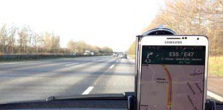 Navigation i bilen med Google Maps på Samsung Galaxy Note 3 (Foto: MereMobil.dk)