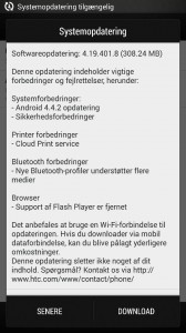 Android 4.4 KitKat til HTC One (Kilde: Læser på MereMobil.dk)