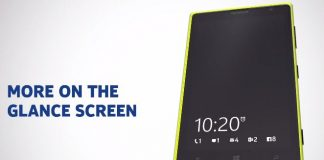Nokia Lumia Black Glance Screen