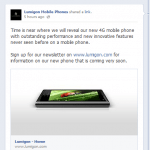 Sådan skriver Lumigon på deres Facebook-side, mandag d. 6. januar 2014.