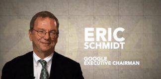 Googles bestyrelsesformand Eric Schmidt