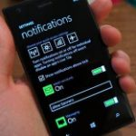 Lækket billede af notifikationscenter i beta-version af Windows Phone 8.1 (Kilde: GSMArena.com)