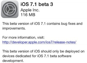iOS 7.1 beta 3 (Kilde: Macrumors.com)