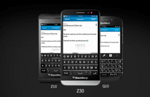 BlackBerry telefoner med BlackBerry 10 (Foto: BlackBerry)