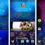 Screenshots af ny generation af TouchWiz UI (Kilde: @evleaks)