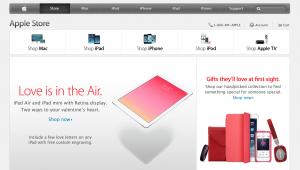 Apple TV kategorien på forsiden af Apple Store