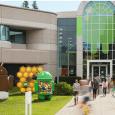 Udenfor GooglePlex Android-bygningen, hvor de forskellige Android-figurer for versionerne står.