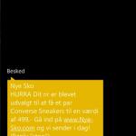 SMS'en der er i omløb fra Jukebux.com