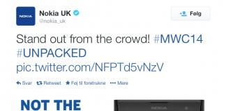 Nokia tweet i forbindelse med Samsung Galaxy S5 præsentation (Kilde: Twitter)