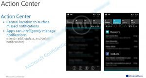 Action Center Windows Phone