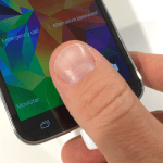 Samsung Galaxy S5 fingeraftryk fingerprintscanner