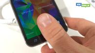 WEB-TV: Galaxy S5 har finger print scanner i hjemknappen. Se her hvordan det virker.