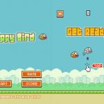 Screenshots fra mobilspillet Flappy Bird
