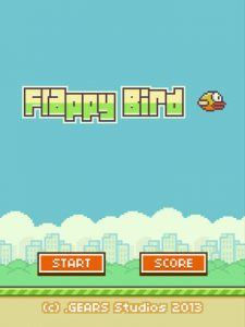 Screenshots fra mobilspillet Flappy Bird