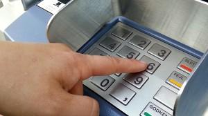Bank, betaling, penge, kode, pinkode