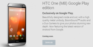 HTC One M8 i Google Play Edition