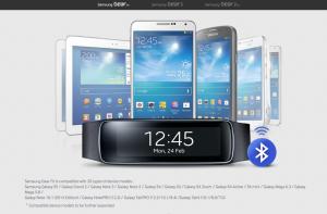 Oversigt over kompatible enheder med Gear Fit (Foto: Samsung)
