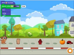 Screenshot fra Tynker iPad applikation