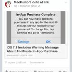 Apple advarsel vedrørende In-App køb i iOS 7.1