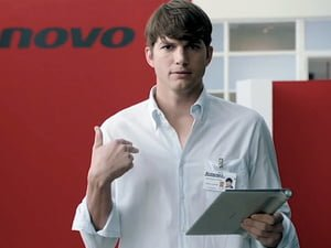 Ashton Kutcher designer produkter for Lenovo