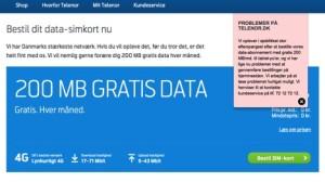 Telenor gratis data-SIM-kort