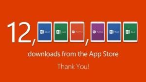 12 millioner downloads af Microsoft Office til iPad på den første uge