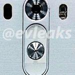 Lækket billede fra @Evleaks af Rear Key på LG G3