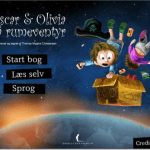 Screenshot fra applikationsn Oscar og Olivia på rumeventyr