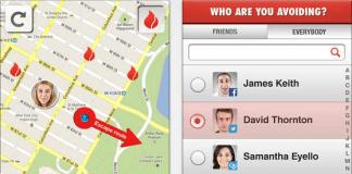 Screenshot fra applikationen Split