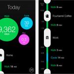 "Screenshots fra applikationen ""Moves"""