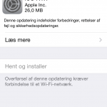 Apple iOS 7.1.1 opdatering