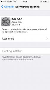 Apple iOS 7.1.1 opdatering