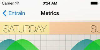 Screenshots fra applikationen Entrain