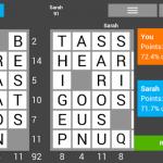 Screenshots fra applikationen SquareWords