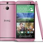 HTC One (M8) i pink (Kilde: @Evleaks)