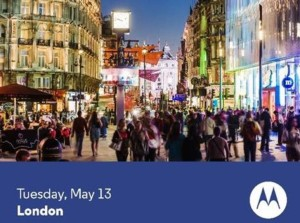 Invitation til Motorola-event i London