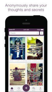 Screenshots fra Whisper applikationen