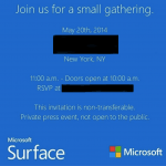 Invitation til Microsoft Surface event