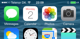 iOS 8 beta screenshot