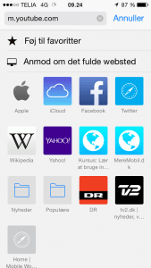 Screenshot iOS 8