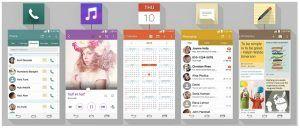 LG G3 ikondesign og layout