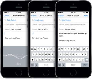 Dikteringsfunktionen kan dansk i iOS 8 (Foto: Apple)