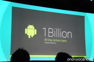 Google I/O 2014 1 milliard aktive Android brugere (Kilde: Androidcentral)