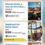 Screenshots fra applikationen Hotels.com